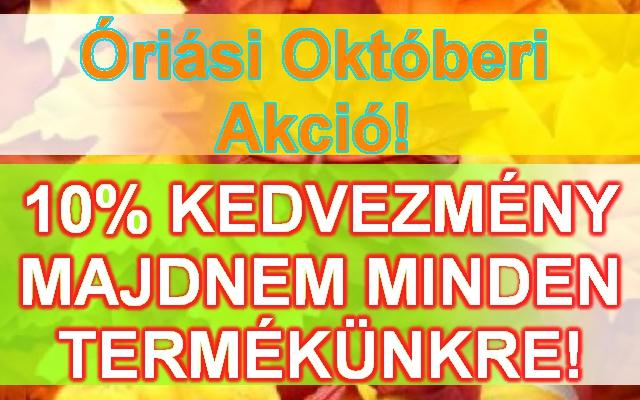 Óriási Októberi Akció!