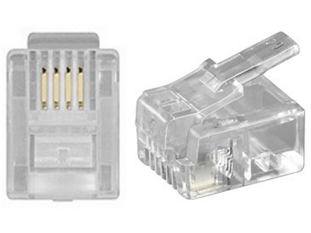 NTR CON23 RJ11 6p/4c krimpelhető telefon csatlakozó dugó